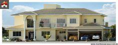 Planta de Sobrado - 4 Quartos - 328.85m² - Monte Sua Casa