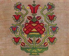 Bulgarian needlework embroidery, c1885 (The Textile Blog)