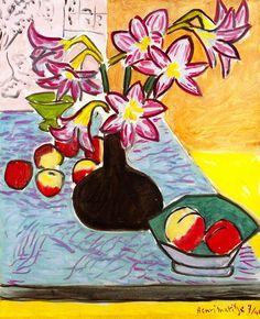 lonequixote:  Vase of Amaryllis by Henri Matisse (via @lonequixote)