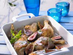 Gebackenes Hähnchen mit Portwein und Feigen