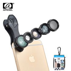 Buy APEXEL 5 in 1 Fisheye Wide Angle Macro lens Telescope telephoto lens CPL Mobile Phone mini camera lens for iPhone Samsung xiaomi Iphone Photography, Mobile Photography, Photography Tips, Nikon D3100, The Flash, Super Wide Lens, Iphone Camera Lens, Camera Photos, Tablet Computer