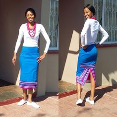 Sepedi traditional wear goes back to centuries of history, expressing cultures, beliefs, and practices. sepedi traditional wear is an important part of the hist African Fashion Skirts, South African Fashion, African Fashion Designers, Africa Fashion, Pedi Traditional Attire, Sepedi Traditional Dresses, Traditional Wedding, African Attire, African Wear