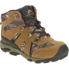 Ozark Trail Boys' Hiker Boot, Size: 5, Green