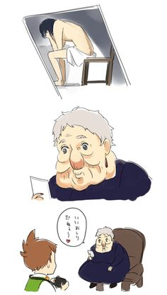 Studio Ghibli Art, Studio Ghibli Movies, Howl Movie, Howels Moving Castle, Personajes Studio Ghibli, Studio Ghibli Characters, Howl And Sophie, Japanese Animated Movies, Funny Pictures Can't Stop Laughing