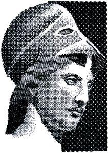 Athena in Blackwork