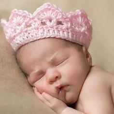 Foxnovo Mignon nouveau-né bébé Baby Girl Boy à la main au Crochet tricot Couronne Hat photographier Prop (rose)