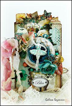 "Blue Fern Studios: February projects by Galina Sazonova. Mini-album ""Bliss""."