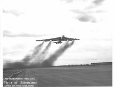 B52 water assisted take off. I remember the lulling sounds of the water heating of engines at night. I was AGE
