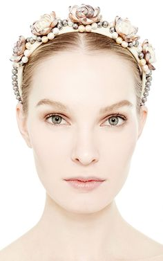 Seashell Rose Headband by Masterpeace - Moda Operandi