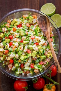 Shrimp Avocado Salsa Recipe This Avocado Shrimp Salsa Recipe is a cross between a pico de gallo, guacamole and shrimp ceviche. It's our favorite salsa recipe of all time – such a. Seafood Recipes, Mexican Food Recipes, Appetizer Recipes, Keto Recipes, Appetizers, Cooking Recipes, Healthy Recipes, Dip Recipes, Cooking Ideas