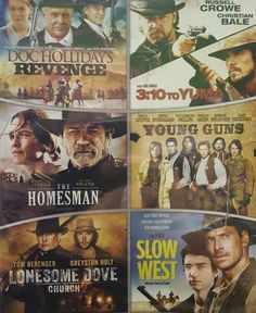 Shop Western: Collection Discs] [DVD] at Best Buy. Find low everyday prices and buy online for delivery or in-store pick-up. 3 10 To Yuma, Tom Berenger, Lonesome Dove, Doc Holliday, Tommy Lee Jones, Russell Crowe, Young Guns, Christian Bale, Cool Things To Buy