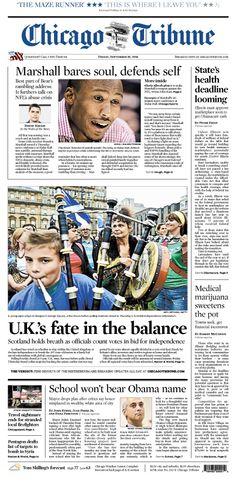 Sept. 19, 2014: Will the United Kingdom remain united? Scotland votes for secession.