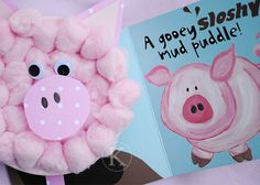 pig puff puppet [Pink Wiggly Pig, What Do You Wish For? by Marianned Richmond]