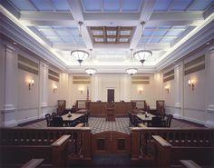 White Futuristic Judge Court Room