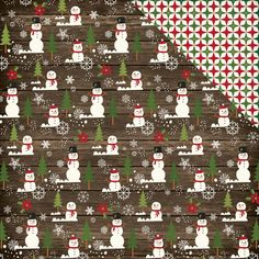 Echo Park The Story Of Christmas - Snowman