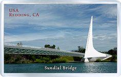 $3.29 - Acrylic Fridge Magnet: United States. California. Sundial Bridge in Redding