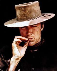 Clint Eastwood during the Western Days