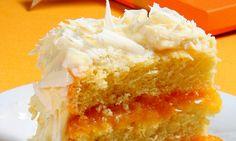 bolo de damasco com chocolate branco