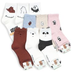We Bare Bears Officially Crew Socks pairs) Bare Bears Officially Crew Socks pairs) Women's Shoes Whether ballerinas, sneakers, high heel shoes or shoes - beautiful shoes are every wo. Funky Socks, Crazy Socks, Cute Socks, Dog Socks, We Bare Bears Wallpapers, We Bear, Donia, Bear Wallpaper, Bodycon