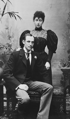W & D Downey [London] - Princess Maud of Wales and Prince Charles of Denmark, 1896 [in Portraits of Royal Children Vol.43 1896-1897]