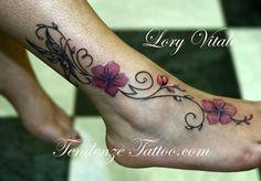 anemone tattoos | tatuaggio fiori di ciliegio