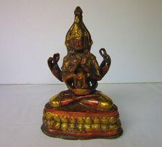 Indische Gottheit Hinduismus Statue Buddha Messing von Bezauberndes Buddha, Religion, Zinn, Statue, Messing, Etsy, Vintage, Art, Indian