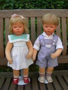 Alte Käthe Kruse Puppe Schummelchen Junge, Drahtskelett, 1957, SEHR SELTEN! 45cm | eBay