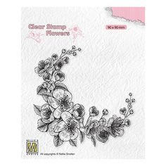 Tampon clear transparent scrapbooking Nellie Snellen COIN DE FLEURS 031 Tampons Transparents, Floral Theme, Scrapbooking, Home And Deco, Simon Says Stamp, Blossom Flower, Clear Stamps, Creations, Flowers