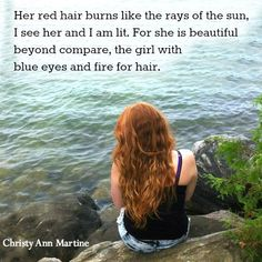 Red hair love poem - Spark of Adoration by Christy Ann Martine - redheads red head poetry beautiful long hair  #redhair #redhead