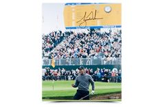 """TIGER WOODS AUTOGRAPHED & LIMITED """"BIRDIE AT THE BRITISH"""" PICTURE UDA - www.gamedaylegends.com Sports Memorabilia"""