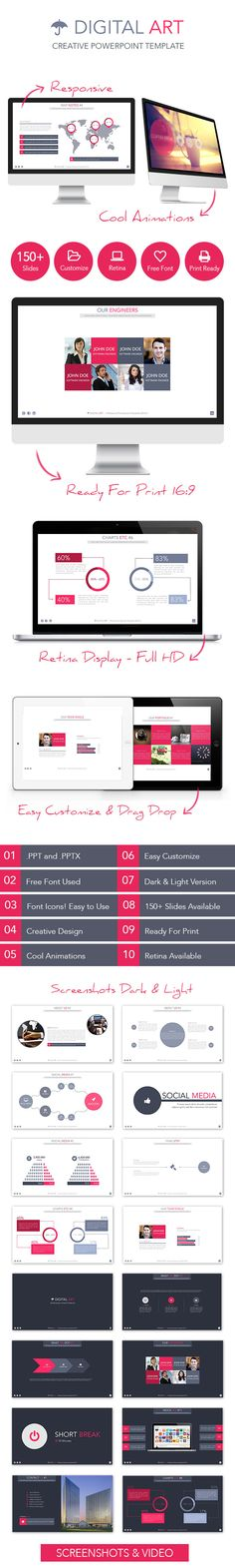 Digital Art - Creative Powerpoint Template - Creative PowerPoint Templates