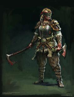 Female Human Barbarian