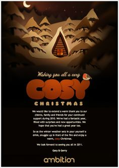 2010 Holiday Email Competition: A Cozy Christmas Choice! Landing Page Inspiration, Design Inspiration, Layout Design, Web Design, Holiday Emails, Email Newsletters, Email Design, Cozy Christmas, New Opportunities