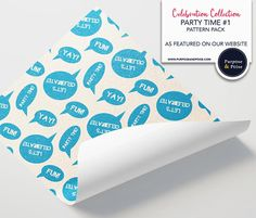 Celebration Collection Party Time Speech Bubbles Printed All Paper, Arts And Crafts Projects, Paper Size, Party Time, Purpose, How To Make Money, Celebration, Bubbles, Greeting Cards