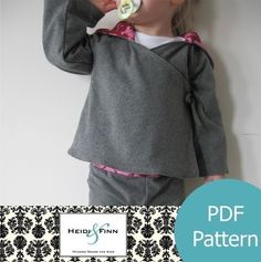 Lindo abrigo ligero que pronto hare! Comfy Yoga Hoodie REVERSIBLE Top pattern and tutorial 12m-5t PDF sweater
