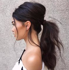 Updated Hairstyles Trends, Beauty & Fashion Ideas in 2019 Si. - Updated Hairstyles Trends, Beauty & Fashion Ideas in 2019 Simple & Easy Ponytail Hairstyles for School & Teenage Girls - Messy Ponytail Hairstyles, Prom Hairstyles For Long Hair, Work Hairstyles, Weave Hairstyles, Wedding Hairstyles, Ponytail Ideas, Low Pony Hairstyles, Wedding Ponytail Hairstyles, Bridal Ponytail