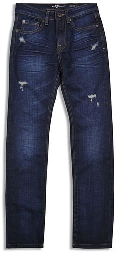 7 for All Man Kind Boys' Paxtyn Distressed Straight Jeans - Sizes 4-7