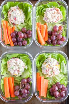 Chicken Salad Meal Prep is a great way to start the week. Made with Greek yogurt and veggies, this is a protein packed meal.