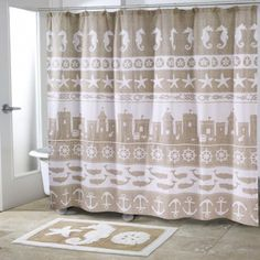 Sea Sand Shower Curtain and Accessories. Shower  Curtain $44.99. To Order Call toll-free 877-722-1100