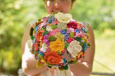 Croshayed Wedding Bouquet