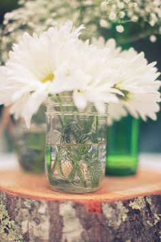 Real Rustic Wedding: The Lily Barn – Knoxville, TN  Table flowers??
