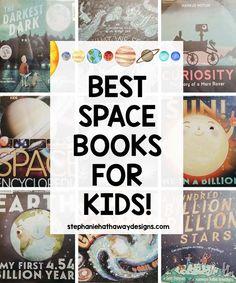 Best Space Books for Kids! Space Books For Kids, Space Activities For Kids, Science For Kids, Science Curriculum, Science Books, Science Crafts, Science Projects, Space And Astronomy, Astronomy Science