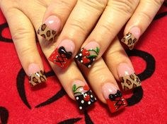 heart cherries by - Nail Art Gallery by Nails Magazine Fabulous Nails, Gorgeous Nails, Pretty Nails, Crazy Nail Designs, Toe Nail Designs, Pedicure Designs, Manicure Ideas, Purple Nails, Bling Nails