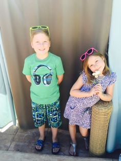 Liam and Stella McDermott in FabKids outfits