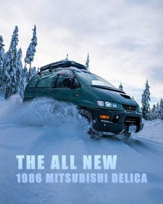 """Big Rig 🦕 on Instagram: """"Now selling the all new 86 Delica in stores near you. Built Mitsubishi tough. . . . . . #vanadventure #4x4van #mitsubishidelica #4x4life…"""" Mitsubishi Colt, 4x4 Van, Rigs, Sci Fi, Adventure, Building, Instagram, Wedges, Science Fiction"""