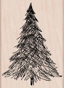 Hero Arts Mounted Rubber Stamps Pen and Ink Christmas Tree. Hero Arts Wood-Mounted stamps are made with lightweight wood, foam and red rubber to give you solid Hero Arts, Christmas Tree Drawing, Ink Pen Art, Christmas Sewing, Christmas Ideas, Holiday Ideas, Christmas Cards, Christmas Ornaments, Design Your Dream House