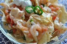 Shrimp and lobster nachos!