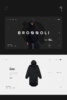 Broqqoli on Behance Best Website Design, Website Design Layout, Web Layout, Layout Design, Minimal Web Design, Interface Web, Interface Design, Web Ui Design, Page Design