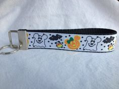 Minnie and Mickey Halloween  Key FOB wristlet by TheEmPURRium, $6.25