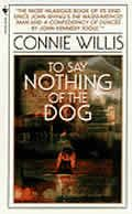 """To Say Nothing of the Dog by Connie Willis: """"We must join hands,"""" the Count said to Tossie, taking her hand in his.""""Like this..."""" """"Yes, yes, we must all join hands,"""" Mrs. Mering said.""""Why, Madame Iritosky!"""" Madame Iritosky was standing in the doorway, draped in a flowing purple robe with wide sleeves.""""I have been..."""